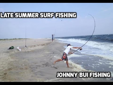 Late summer surf fishing at sandy hook nj 9 4 15 youtube for Surf fishing nj