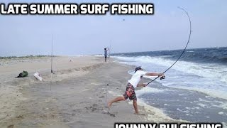 Late Summer Surf Fishing At Sandy Hook, NJ 9/4/15