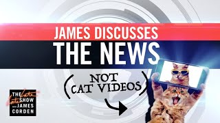 Discussing the News (& Not Watching Cat Videos)