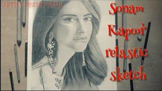 #Bollywood_sketch How to draw sonam kapoor sketch/Draw step by step|Artist Pratik Patil