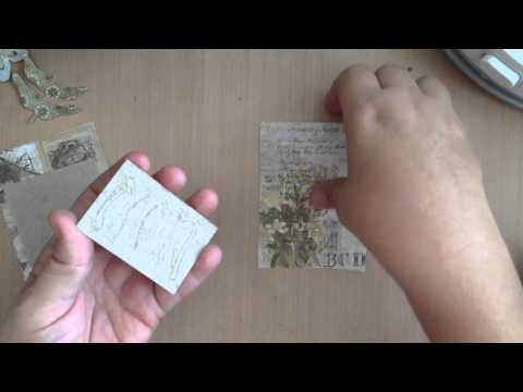 Panel Canvas Technique w Tim Holtz Wallflower Paper