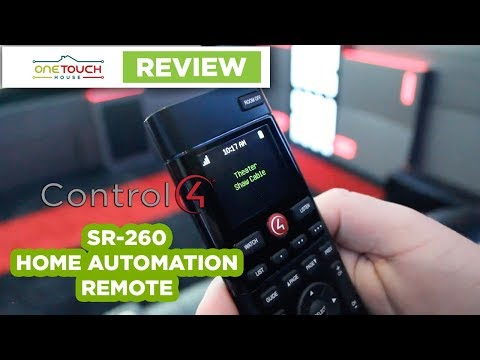 Control4 SR-260 Automation Remote Review - OneTouch House