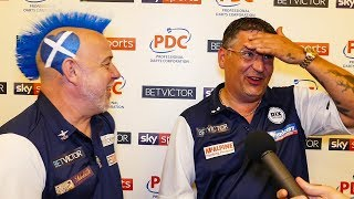 Peter Wright and Gary Anderson - Team Scotland through first round