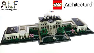LEGO Architecture 21054 The White House - Lego Speed Build Review