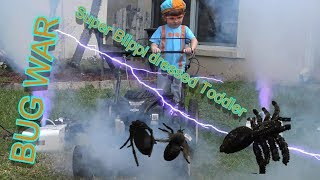 Attack of Monster Bugs | Blippi dressed toddler makes mess | Super Blippi must fight Big Bugs