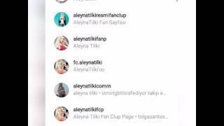 Aleyna Tilki ( Instagram Fanları )