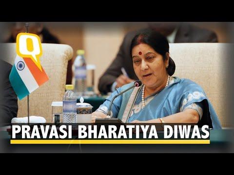 NRI's Day: Sushma Swaraj Speaks on Pravasi Bharatiya Diwas