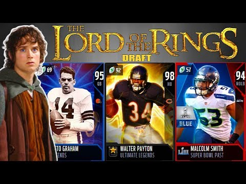 THE LORD OF THE RINGS DRAFT! PLAYERS WITH THE MOST SUPERBOWL RINGS! Madden 19 Draft Champions