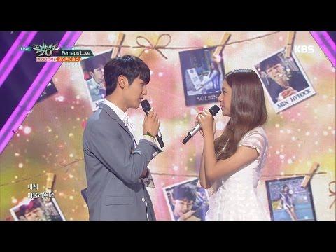뮤직뱅크 - 강민혁 & 솔빈, 뮤직뱅크 MC 신고식! 'Perhaps Love (사랑인가요)'.20160701