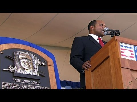 Barry Larkin is inducted into the Hall of Fame