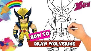 How To Draw Wolverine Cartoon | Drawing Of Wolverine | Wolverine Drawing Ideas And Coloring