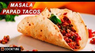 Masala Papad Tacos Recipe | How to Make Masala Papad | Indian Tacos