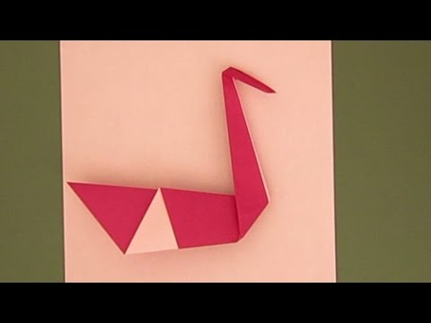 EASY VALENTINE'S DAY ORIGAMI SWAN