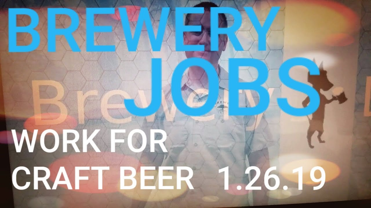 Brewery Jobs For Craft Beer 1 26 19 Youtube