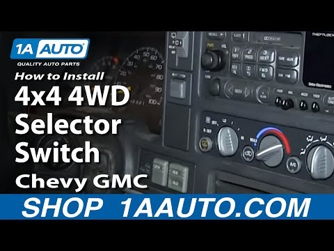 How To Replace 4WD Selector Switch 95-00 Chevy Tahoe