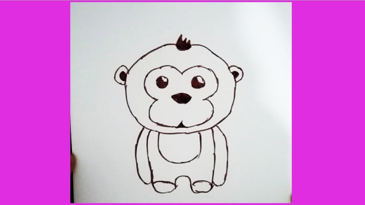 Kolay Maymun çizimi Youtube
