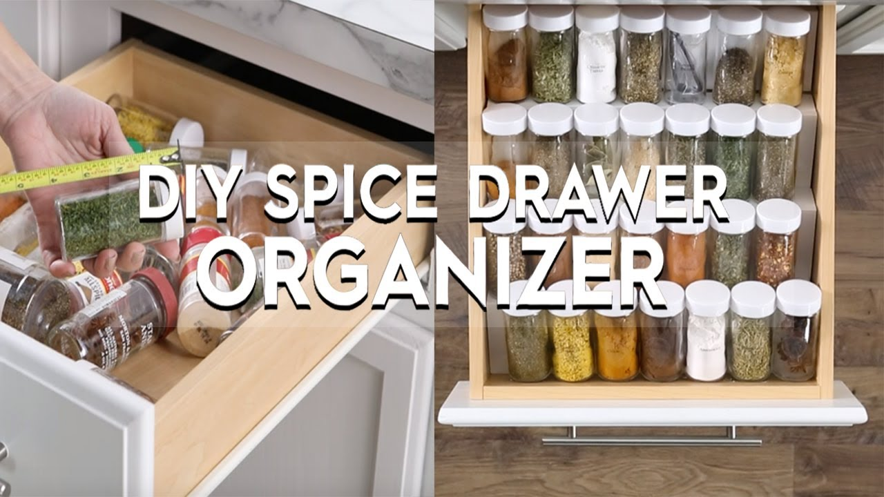 how to make a diy spice drawer organizer basics better homes gardens