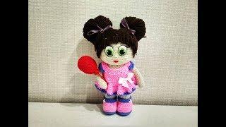 Игрушка амигуруми. Кукла Бусинка. Мастер-класс крючком. (Сrochet doll)