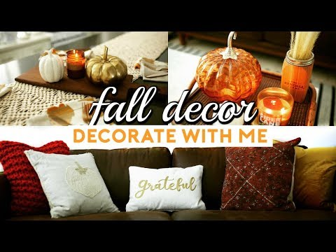 FALL HOME  DECOR HAUL & HOW TO DECORATE FOR AUTUMN 2017 (Homegoods & Target)