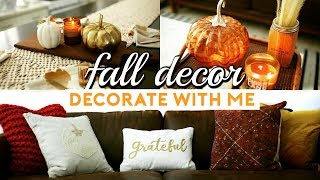 FALL DECOR SHOPPING & DECORATE WITH ME! AUTUMN HOME DECOR HAUL 2017
