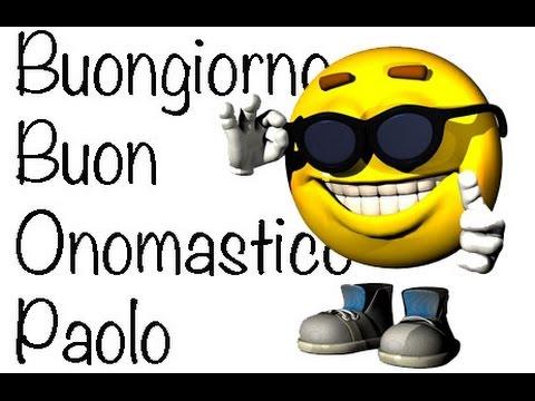 Conosciuto Auguri Buon Onomastico Paolo - YouTube ZV63