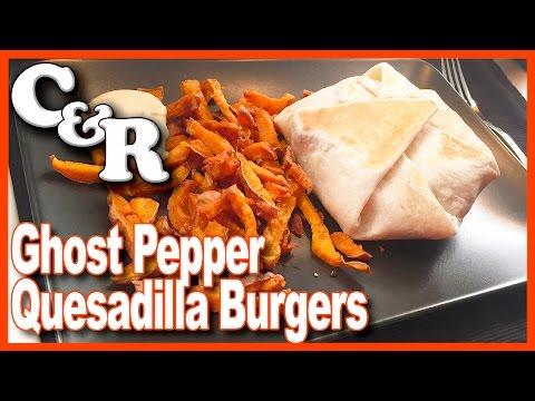 Ghost Pepper Quesadilla Burgers
