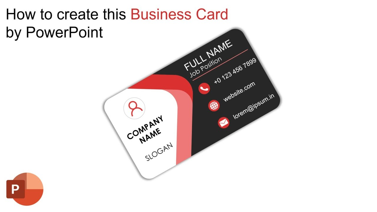 how to create this professional business card