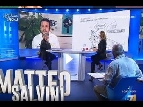 """Salvini vs Vauro: """"Saro' intellettualmente poco sviluppato ma a me non fanno ridere"""""""