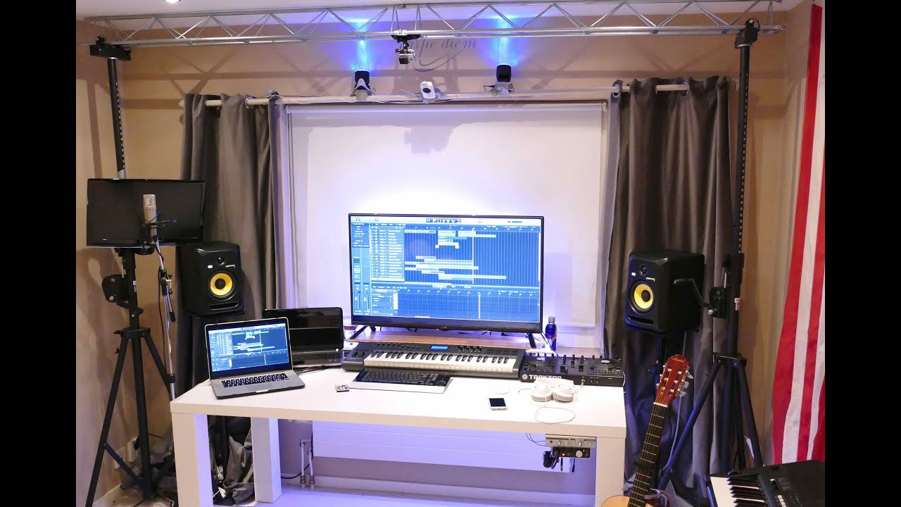 New home recording studio tour 2016 youtube for Bedroom recording studio