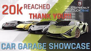 THANK YOU!!! 20k Subscribers Reached! Car Garage Showcase!   ASPHALT 9: LEGENDS