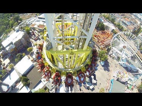 Funtime Freefall Wiener Freifallturm (Sittler-Koidl) Prater Wien 2017 POV Onride MIX