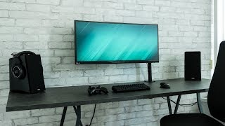 Dream Desk Setup - Modern Industrial Concrete Design