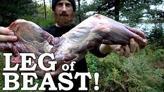 Red Dead Redemption in REAL LIFE! | Eating a BEAST LEG Over OPEN FIRE | 100% Wild Foods Only!  Ep13