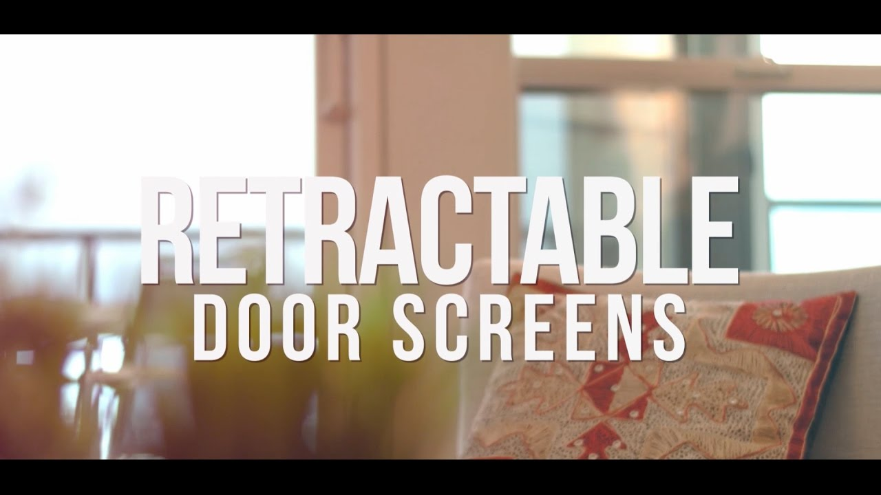 retractable door screens by phantom screens