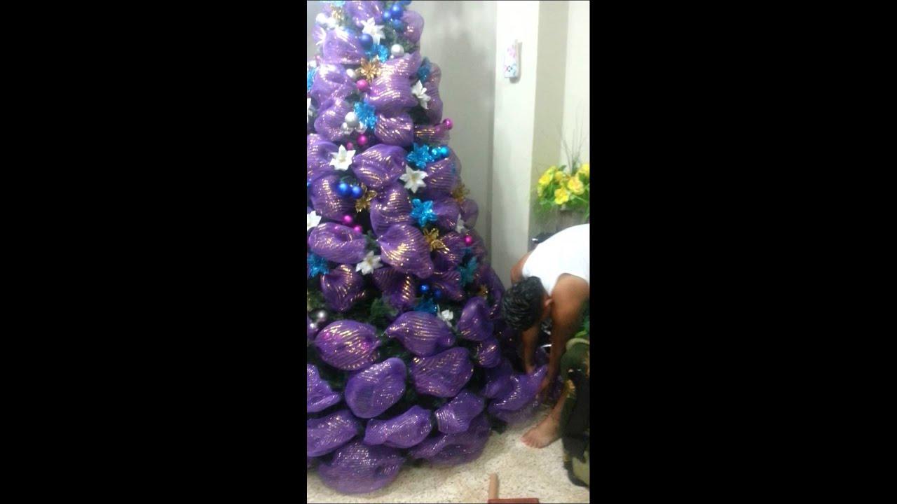Como decorar un rbol de navidad youtube - Como adornar un arbol de navidad blanco ...