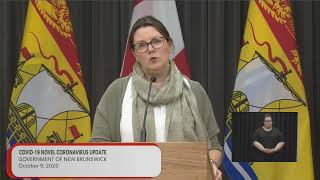 Update from new brunswick's premier, blaine higgs, and the chief medical officer of health, dr. jennifer russell, on covid-19 novel coronavirus for frida...