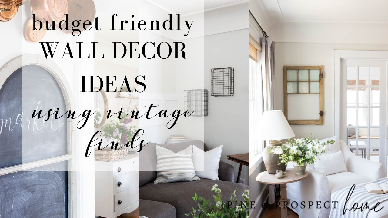 Budget Friendly Wall Decor Ideas using Vintage Finds