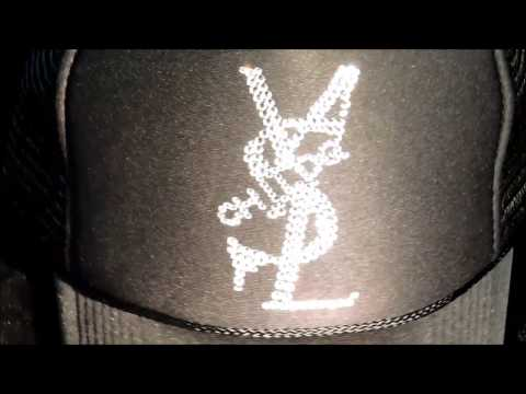 スワロフスキー キャップ / Parody Crash Melt Swarovski Cap Black  by CHILDQ