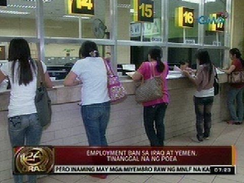 24Oras: Employment ban sa Iraq at Yemen, tinanggal na ng POE