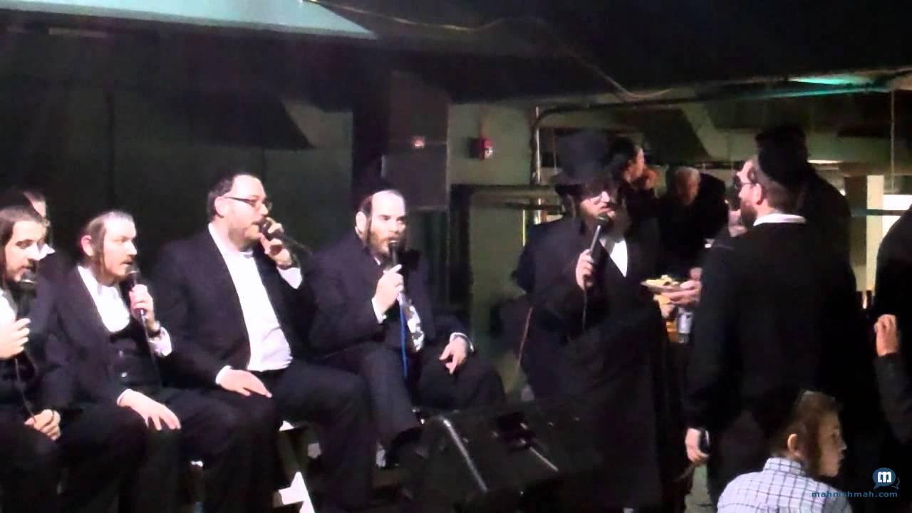 Hamezamrim Singing At Gourmet Glatt Grand Opening