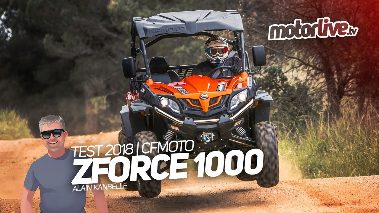 cfmoto zforce 1000 test exclusif 2018 youtube. Black Bedroom Furniture Sets. Home Design Ideas