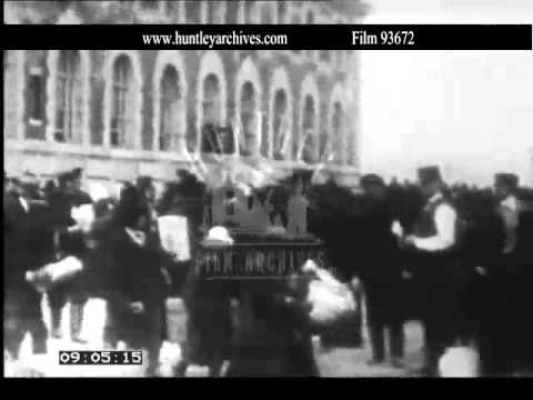 Ellis Island immigration in the 1900's.  Archive film 93672