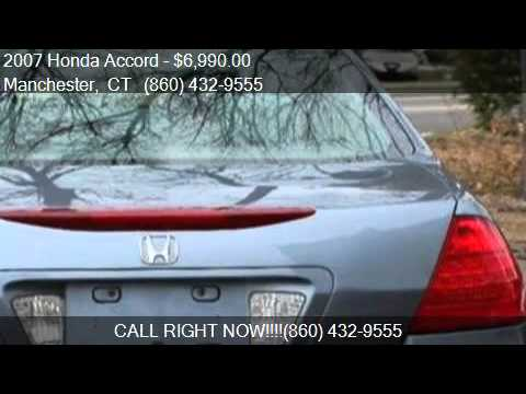 2007 honda accord lx for sale in manchester ct 06042 at hot youtube. Black Bedroom Furniture Sets. Home Design Ideas