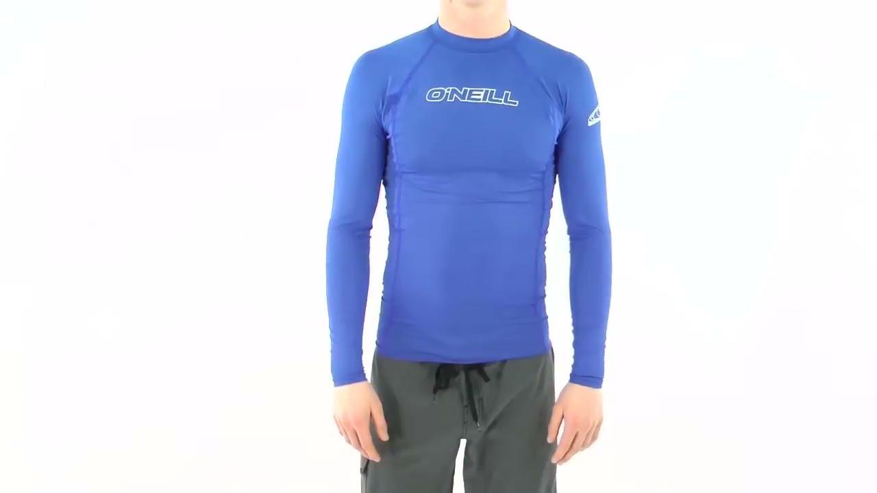 ONeill Mens Basic Skins Long Sleeve Rash Vest