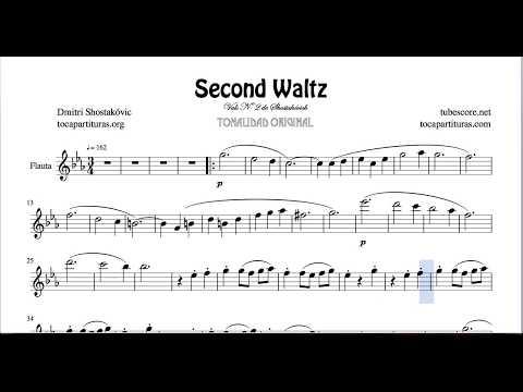 Second Waltz by Shostakovich Sheet Music for Flute