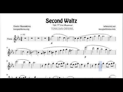 Second Waltz by Shostakovich Sheet Music for Flute