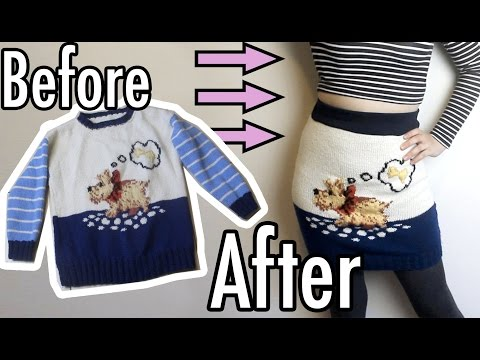 DIY Pencil Skirt from a Sweater!   Get Thready With Me #7