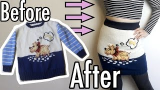 DIY Pencil Skirt from a Sweater! | Get Thready With Me #7