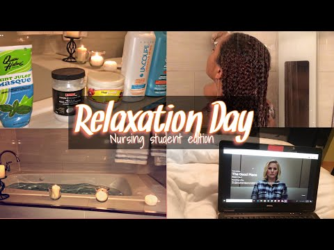 The importance of relaxing in nursing school~At home spa day