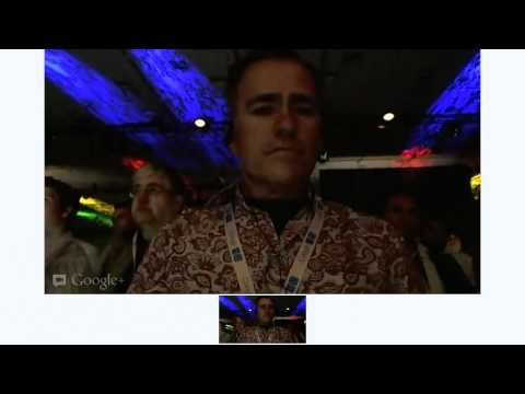 Mike Elgan does a live Hangout from the Google I/O keynote